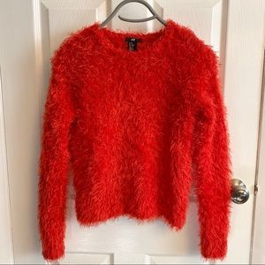 2/$15 or 3/$20- H&M furry red sweater
